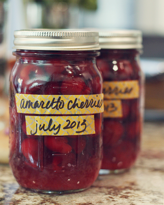 amaretto-cherries