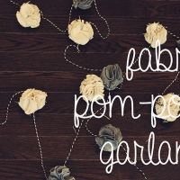 fabric pom-pom garland {diy}