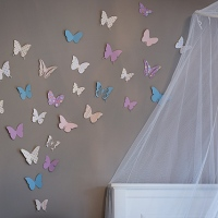 making rooms {butterfly accent wall}
