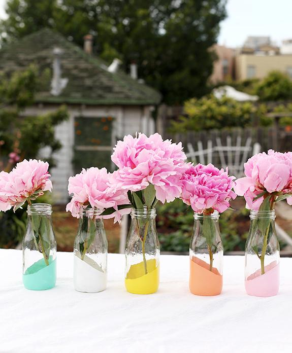 pastel dipped vase
