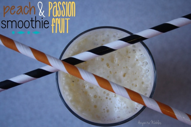Peach and Passionfruit Smoothie from www.anyonita-nibbles.com as seen on Circus Berry