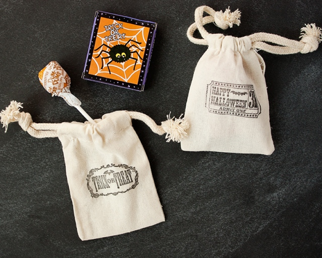 Stamped Halloween Treat Bags {Circus Berry}
