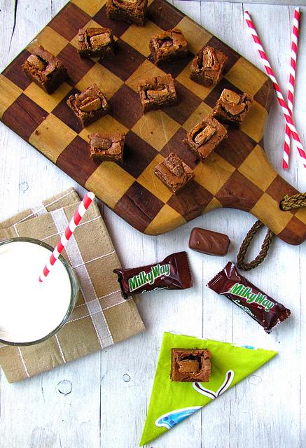 milky way brownies
