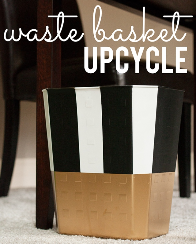 waste basket upcycle {diy}