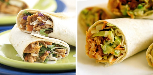 asian-chicken-&-buffalo-chicken-wraps