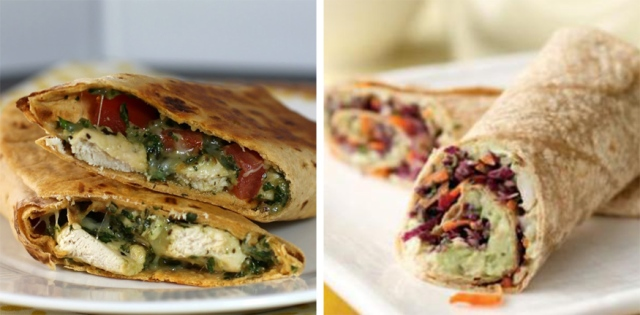chicken-pesto-&-avocado-white-bean-wraps