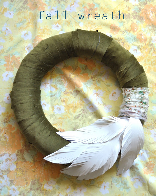 feather wreath