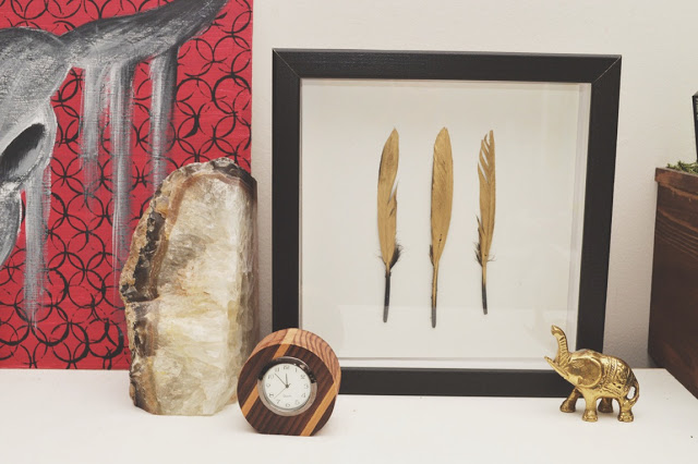 gilded feather art