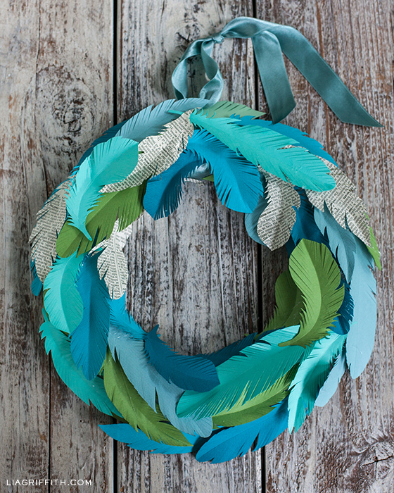PaperFeatherWreath