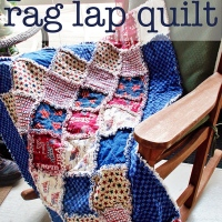 patriotic rag lap quilt {guest post from Donna}