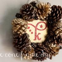 pine cone frame {diy}