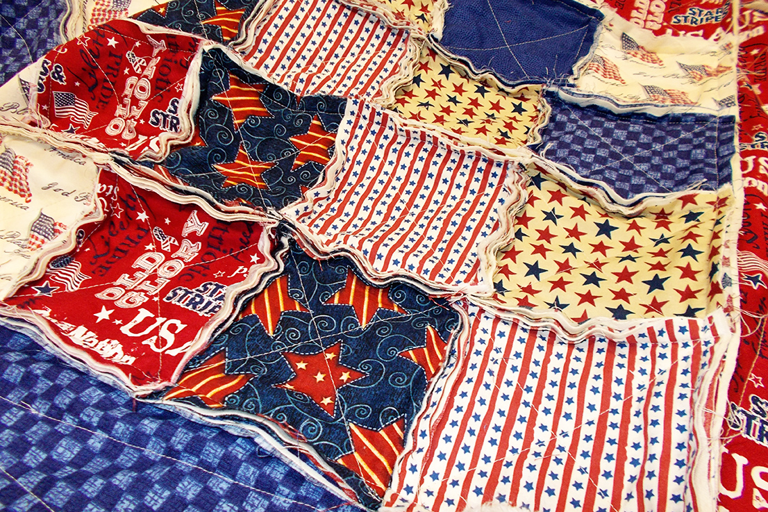 patriotic rag lap quilt {guest post from Donna} | Circus Berry : how to make quilt squares - Adamdwight.com