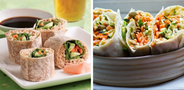 spicy-tuna-&-raw-veggie-wraps