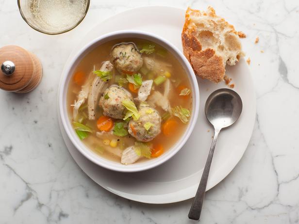 turkey soup with stuffing dumplings