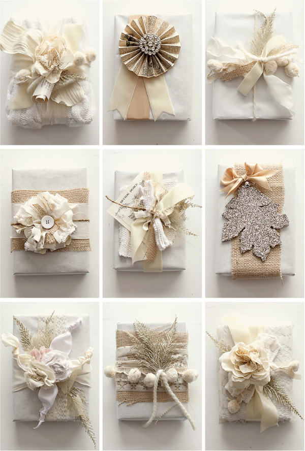 white wrapping ideas